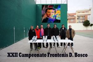 AAAA Villena XXII Campeonato Frontenis Don Bosco organizadores del torneo Grupo de Frontenis Salesianos y Junta AAAA Salesianos